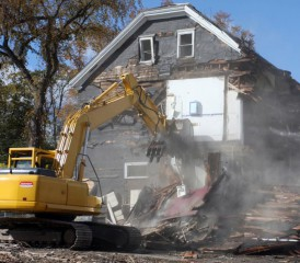 Demolition of House Filled with Asbestos