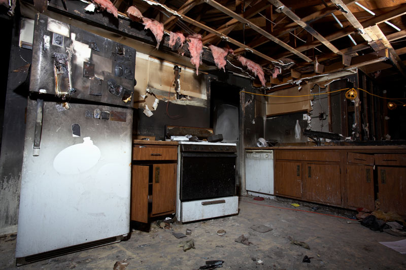 House fire interior