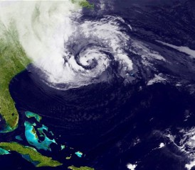 Satellite imagery of Hurricane Sandy