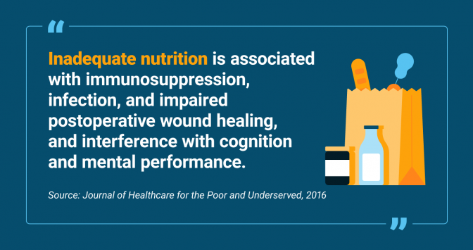 Effects of inadequate nutrition on treatment