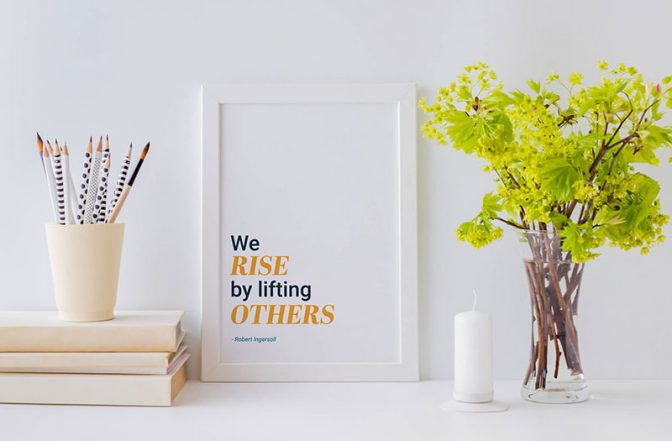 Art print with inspirational message