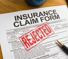 Rejected Insurance Claim Form