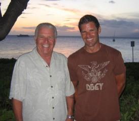 John Johnson with son Michael Johnson