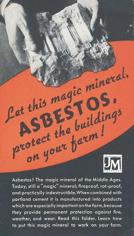 Vintage Johns Manville asbestos advertisement