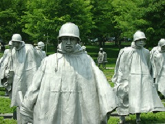 Statues from the Korean War Memorial