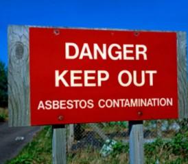 Danger sign in Libby, Montana
