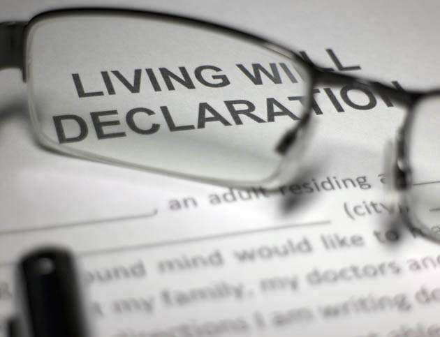 Living Will Declaration Document