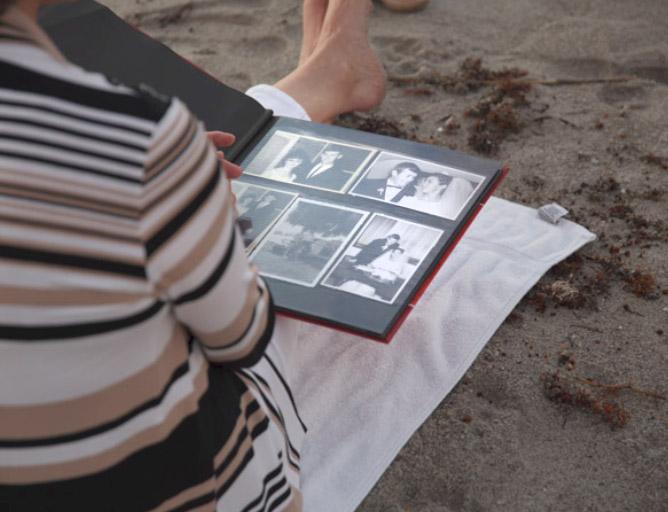 Lorraine Kember with photo album