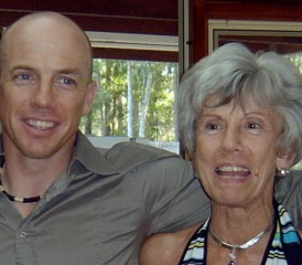 Marcus Lovett with his mother Jan Lovett