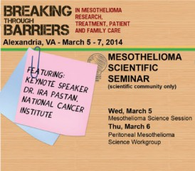 Flier for International Symposium on Malignant Mesothelioma