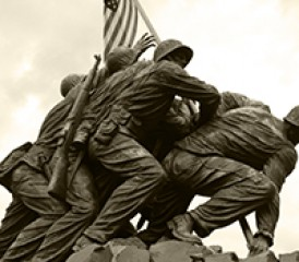 The United States Marine Corps War Memorial Statue