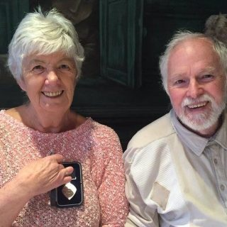 UK mesothelioma survivor Mavis Nye with her husband Ray