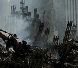 World Trade Center rubble from 9/11 terrorist attacks