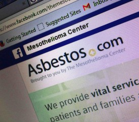 Facebook page for The Mesothelioma Center