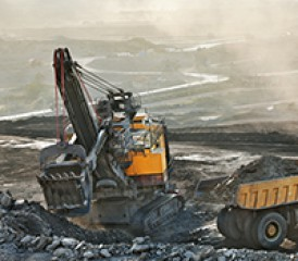 Tractor mining taconite