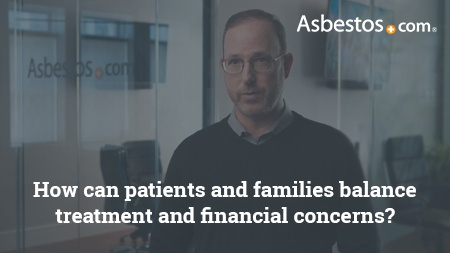 Video of legal advisor Joe Lahav on how patients and families should balance mesothelioma treatment expense concerns.