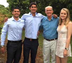 Australian mesothelioma survivor Mike T. and his family
