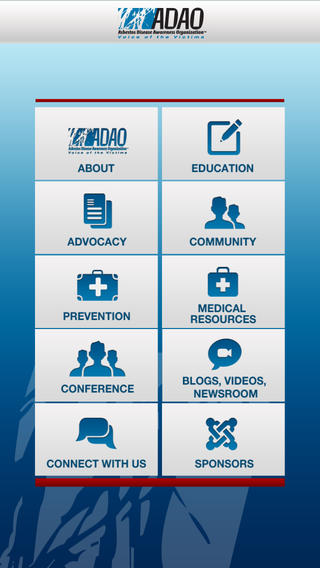 Asbestos Disease Awareness Organization Mobile App