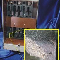 Molded ebonized asbestos base