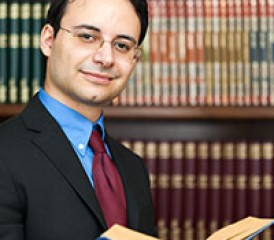Lawyer in a Law Library