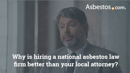 Why national mesothelioma law firms are better than local attorneys video