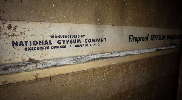 National Gympsum drywall containing asbestos