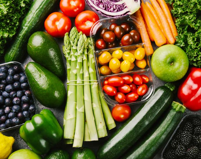 Nutritional fruits and vegetables