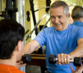 Personal Trainer with Older Client