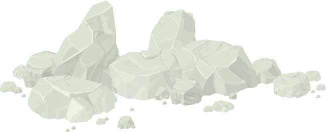 talc rock formation illustration