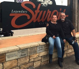Rolando and his wife at Sturgis