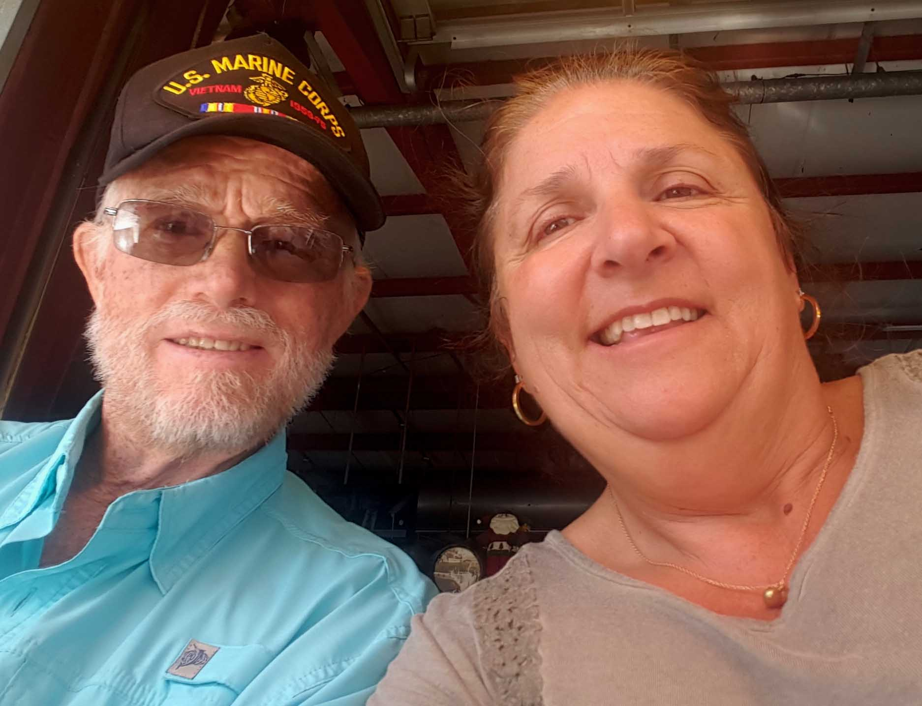 Russell Lamkins and his wife, Sandi