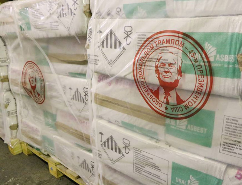 Russian Company Brands Asbestos with Trump's Face