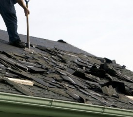 Roof shingles with asbestos
