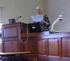 Mavis Speaking for Lung Cancer Awareness