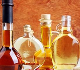 Oil in bottles
