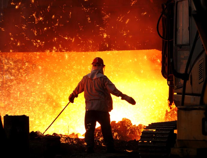 Steel worker with iron smelter