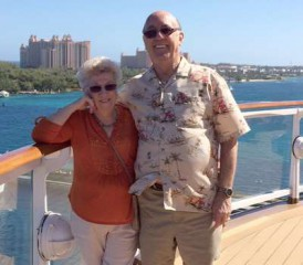 Mesothelioma Survivor Rich D with his wife Aline