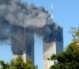 Twin Towers During 9-11 Attack