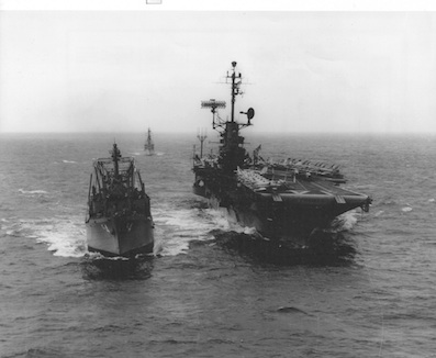 USS Mount Baker and USS Ticonderoga