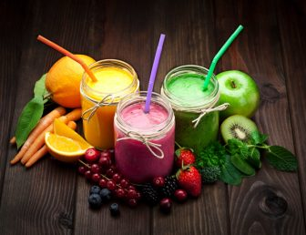 Vegetable and fruit smoothies
