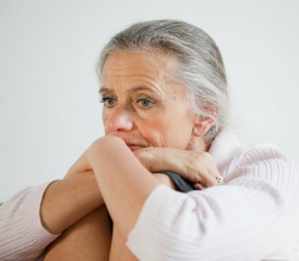 Older woman worried